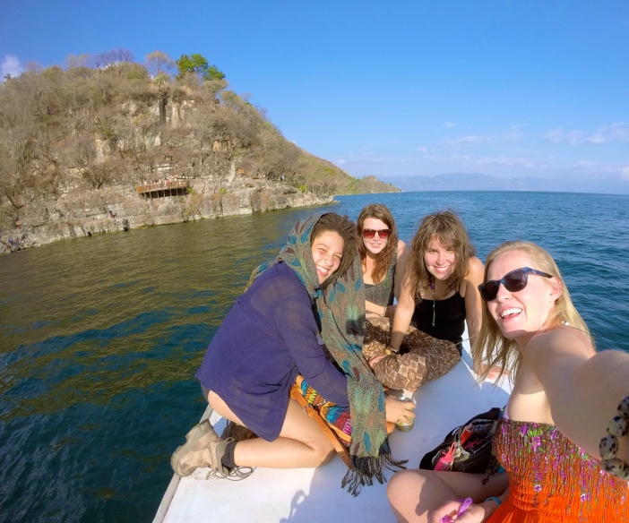 Met that beauty in the brown pants on a boat in Guatemala after being on the road for less than two weeks.